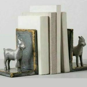 Hearth & Hand Galvanized Goat Bookends